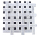 Soho Studio Lattice White Thassos  Lt Gray and Black