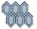Soho Studio New Era Thassos Long Hexagon with Ming Green, Thassos, Lin Blue