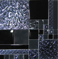 Unicorn Glass Tile Swirl Black