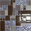 Unicorn Glass Tile Swirl Brown