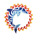 Dolphin sun  medallion mosaic pool inlay 36 inches