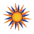 Orange Sun medallion mosaic pool inlay