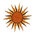 Brown Sun medallion mosaic pool inlay