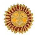 Smiling Sun medallion mosaic pool inlay