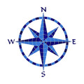 Compass blue medallion mosaic pool inlay
