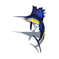 Sailfish mosaic pool inlay small left with shadow
