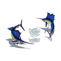 Sailfish pair with bait mosaic pool inlay large with shadow
