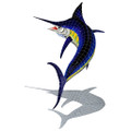 Marlin mosaic pool inlay large with shadow