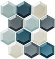Glass Tile, Shimmering Breeze Series. Hawaiian Blue