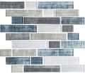 Glass Tile, Textile Series. Blue Denim