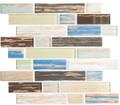 Glass Tile, Textile Series. Khaki Stonewash