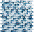 Glass Tile, Metro Series. Antoinette Blue