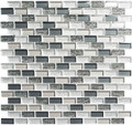 Glass Tile, Metro Series. Jules Charcoal