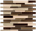 Glass Tile, Bella Muro Series. Mauve Mocha