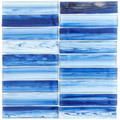 Glass Tile Brook Stacked Azur