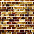 Sunset brick glass tile