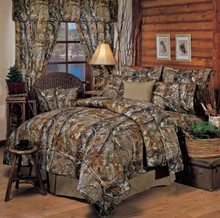 Realtree All Purpose Queen Size Bed In A Bag - Camo Comforter, Shams, Bedskirt, Fitted Sheet, Flat Sheet & Pillowcases