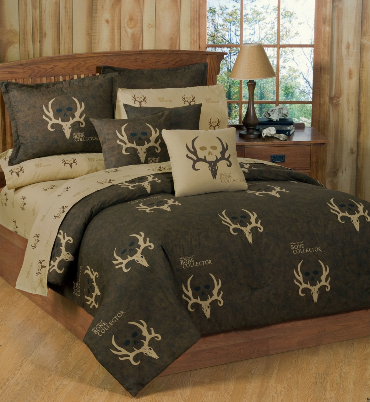 Michael Wadell Bone Collector 7 Pc Comforter Set Queen Size Camo Beds