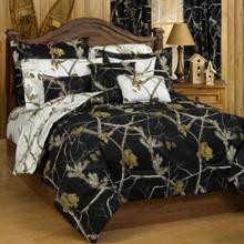 Realtree AP Black & White Comforter and Sham Set - King Size