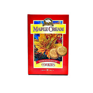 CANADA TRUE Maple Cream Round Cookies with Pure Maple Syrup 200g(加拿大 CANADA TRUE 纯枫树糖浆圆形夹心饼干 200g)