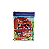 CANADA TRUE Bear mark Chocolate coated Maple Peanuts 200g(加拿大 CANADA TRUE 熊标枫叶花生外衣巧克力   精美铁罐裝 200g)