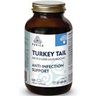 PURICA Therapeutic Grade  500mg Coriolus Yunzhi Mushroom(Turkey Tail) 120 Capsules(加拿大 PURICA 治療级別高含量500mg云芝胶囊  120粒入)