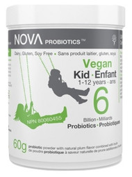 NOVA PROBIOTICS Vegan KID 1-12 Years 6 Billion Probiotics per Scoop -60g powder(加拿大 NOVA PROBIOTICS 素食-儿童1-12岁60亿益生菌-60g沖剂粉末)