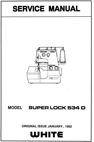 White Superlock 534D