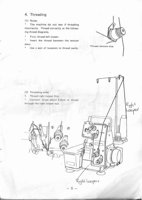 MultiLock ML-304 Overlocker PDF instruction manual