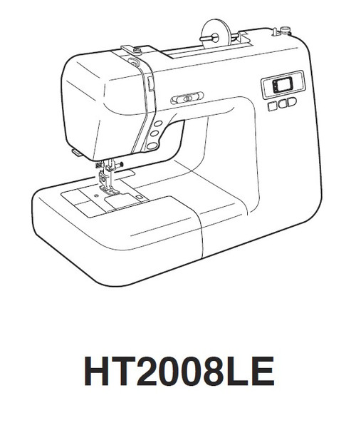 Janome New Home HT2008LE Sewing Machine Instruction Manual