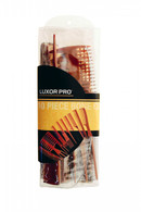 Luxor Bone Collection The Original Deluxe 10 Piece Roll Up Comb Kit