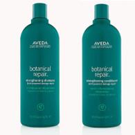 AVEDA Botanical Repair Strengthening Shampoo and Conditioner Liter Set 33.8 Oz