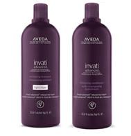 Aveda Invati Advanced Light Shampoo and Thickening Conditioner 33.8 oz