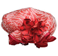 Fancy Shower Caps Red Design
