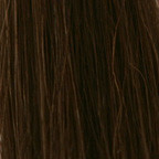 Human Single Clip-In Hair #4 (Dark Brown)