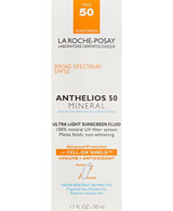 La Roche-Posay Anthelios 50 Mineral Ultra-Light Facial Sunscreen Fluid for Sensitive Skin, Water Resistant with SPF 50,