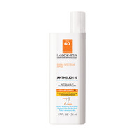 La Roche-Posay Anthelios 50 Mineral Sunscreen for Face, Ultra-Light Fluid SPF 50 with Antioxidants 1.7 Oz