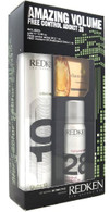 Redken 5th Ave Nyc Set with Guts 10 10.58oz, and Control Addict 28 2.1 Oz, Diamond Oil Shatterproof Shine 1 Ml