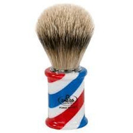 Omega Hi Brush Barber Pole Shaving Shave Soft High Tech Synthetic Fibers Brush-Vegan