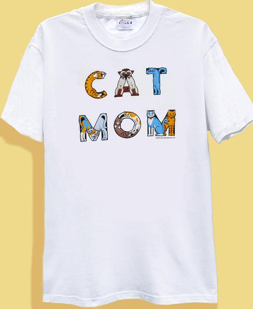 CAT MOM T-SHIRT WHITE