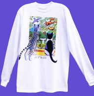 CALL OF THE WILD LONG SLEEVE CAT T-SHIRT WHITE