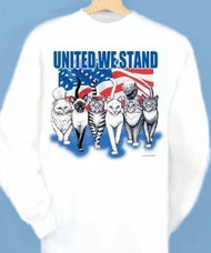 UNITED LONG SLEEVE CAT T-SHIRT WHITE