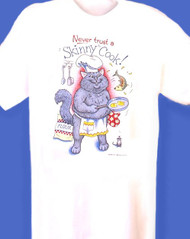 SKINNY COOK CAT NIGHTSHIRT WHITE ONE SIZE