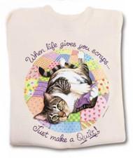 QUILT CAT SWEATSHIRT NATURAL
