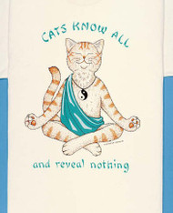CATS KNOW ALL T-SHIRT NATURAL