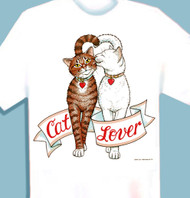 CAT LOVER T-SHIRT WHITE