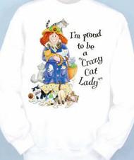 CRAZY CAT LADY SWEATSHIRT WHITE