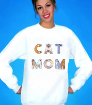 Be proud and say it loud with this super cool cat sweatshirt!  This makes a great gift for the woman who's kids have four paws and a plethora of purrs! This is another exclusive Hep Cat design, available only here at Meow.Com!