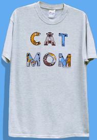 CAT MOM T-SHIRT ASH