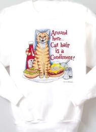 CONDIMENT CAT SWEATSHIRT WHITE